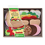 Melissa & Doug 13954 Filz-Lebensmittel-Set für Belegte Brote, Mehrfarben