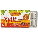 Birkengold Xylit Kaugummi Frucht , Zahnpflege-Kaugummi , zuckerfrei , hoher Xylit-Anteil 70 % , vegan , ohne Titandioxid , ohne Aspartam ,ohne Zucker