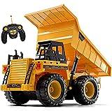 Top Race TR-112 AA 5-Kanal voll funktionsfähige RC Dump, ferngesteuertes Spielzeug, robuste Konstruktions-LKW mit Licht-Sound für Kinder und Erwachsene TR-112AA