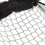 12m x 4m Vogelnetze Vogelschutznetz Vogelabwehr Gartennetz Geflügelnetz Laubschutznetz Vogelschutz Netz Schutznetz Teichnetz Laubnetz Schützt Obstbäume Pflanzen Bäume Beeten Schwarz (Masche 2,5cm)