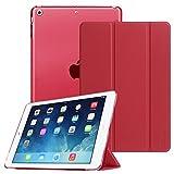 Fintie Hülle für iPad Air 2 (2014 Modell) / iPad Air (2013 Modell) - Ultradünne Superleicht Schutzhülle mit Transparenter Rückseite Abdeckung mit Auto Schlaf/Wach Funktion, Rot