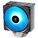 DEEP COOL GAMMAXX GT BK CPU Kühler mit 4 Heatpipes, Prozessorlüfter für Intel und AMD CPUs, 120mm PWM Lüfter, RGB