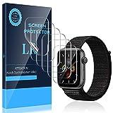 LK 6 Stück Schutzfolie kompatibel mit Apple Watch Series 6/SE/Series 5/Series 4 44mm Folie, Modellnummer:LK-X-109 Kompatibel mit Hülle Blasenfreie Klar HD Weich TPU Displayschutz