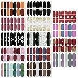 14 Blatt Selbstklebend Nagelfolie,Nagelsticker, Nagelaufkleber, Nagelkunst Sticker Selbstklebende Maniküre Sticker
