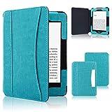 ACcolor Folio Hülle für Kindle Paperwhite (alle Generationen 2012-2018) - PU Leder Schutzhülle Tasche mit Auto Sleep/Wake Funktion für Amazon Kindle Paperwhite eReader, Himmelblau