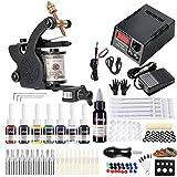Solong Tattoo Maschine Set Für Anfänger 1 Maschine 7 Tinten Nadeln Energieversorgung Pedal Tattoo Kit 109-EU