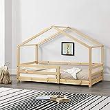 Kinderbett mit Rausfallschutz 80x160 cm Bettenhaus Hausbett Holz