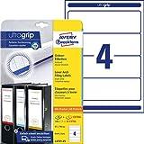 Avery Zweckform L4761-25 Ordnerrücken Etiketten (A4, 120 Rückenschilder, breit/kurz, 61 x 192 mm) 30 Blatt, weiß