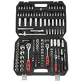 newpo Steckschlüsselsatz   171 Teile   1/2', 1/4' & 3/8'   Werkzeugkoffer Steckschlüssel Schraubenschlüssel Werkzeugkiste