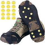 Tevlaphee Schuhspikes,Schuhkrallen,Steigeisen,Schuh Spikes für Bergschuhe,mit einem 15er-Pack Ersatz-Schneespikes für Damen,Herren und Kinder(Schwarz, XL)