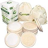 Abschminkpads Waschbar 16 Stück Wiederverwendbare Wattepads aus Bambus und Baumwolle Make Up Entferner mit Wäschebeutel und Reisetasche