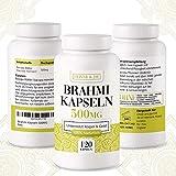 Brahmi Kapseln (bacopa monnieri) 500mg │ 120x Bacopa Monnieri Kapseln │ 100% natürliches Brahmi Pulver aus der Brahmi Pflanze │ Qualität von Oliver & Jay