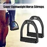 Explopur Kinder REIT Steigbügel - 2 Stück Kunststoff Anti-Rutsch-Superleichte Pferdesattel Horse Pedal Equestrian Sicherheitsausrüstung