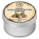 Shea Butter Kaltgepresst und Unraffiniert 400g - 100% Rein und Natürlich Karité Body Butter - Afrika - Ghana - Körperbutter - Intensive Pflege für Gesicht - Körper - Haare - Körperpflege