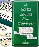 Jaques von London Double Six Dominoes in Präsentationsdose