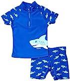 Playshoes Jungen UV-Schutz Bade-Set Hai Schwimmbekleidung, Blau (original), 74/80