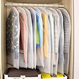10st. Kleidersäcke Kleiderhülle transparent 120/100 cm lang Staub Schutz für Mantel Anzug Daunenjacke Rock Abendkleid Aufbewahrung Sack mit Reißverschluss, wasserdicht, dick, Ordnung im Schrank