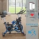 ArtSport Speedbike RapidPace – Ergometer Fahrrad Pulsmesser LCD Display - 10 kg Schwungmasse - bis 120 kg – Heimtrainer Fitness Indoor Cycling Bike