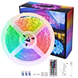 LED Strip RGB 8m, LED Streifen, LED Band, LED Leiste, LED Strip lichterkette 8m Lichtband mit Fernbedienung Selbstklebend für Zuhause, Schlafzimmer, TV, Schrankdeko, Party