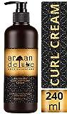 Argan Deluxe Curl Defining Cream in Friseur-Qualität 240 ml - Lockenpflege-Creme mit Arganöl für Glanz, Feuchtigkeit und Sprungkraft