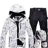 KUNHAN Skibekleidung für Herren Frauen wasserdichte Skianzug Berg Skianzug Für Männer Verdicken Warme Ski Schnee Jacke + Snowboard Hose Ski Set
