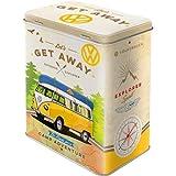 Nostalgic-Art Vorratsdose, Stahl, Volkswagen Bulli-Let's Get Away, 10 x 14 x 20 cm