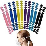 12PCS Mask Strap Extender - Silikon Ohrhaken Maskenhaken,Ohrriemen Verstellbare Schnalle Maskenhalter, Ear Maskenhaken, Schmerzen Erleichtert für Erwachsene und Kinder