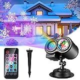 Weihnachten LED Projektorlampe, 16 Folien ALED LIGHT Projektor Lichter Wasserwellen-Welleneffekt, Wasserdichte Außenbeleuchtung Weihnachten Licht Projektor mit Fernbedienung zum Party Urlaub