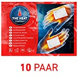 THE HEAT COMPANY handwarmers - EXTRA WARM - zakverwarmer - 12 uur warme handen - klaar voor gebruik - luchtgeactiveerd - zuiver natuurlijk - 10 Paar