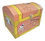 Piraten Schatzkiste Klein - Tolle Schatztruhen für Geburtstag, Hochzeit oder Mottoparty - Box, Truhe, Kiste für kleine und große Piraten