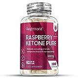 Raspberry Ketone Pure - 1200mg pures Himbeer Keton hochdosiert - Für Abnehmen, Diät und Stoffwechsel - Appetitzügler - Keto Nahrungsergänzung - 180 Kapseln vegan