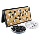 Larcele Falten Magnetisch Go Spiel Set mit Steinen und Brett zum Reisen CXWQ-01 (Klein)
