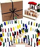 Jaques von London Bunte Hölzer Domino Rally – Qualität dominosteine Spielzeug , brettspiele und holzspielzeug seit 1795