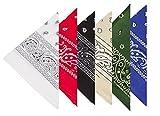 Boolavard 100% Baumwolle, 6er Pack Bandanas mit original Paisley Muster, 6er Gemischt Sortierung 2