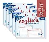 Häfft Vokabel-Karten A8 Englisch liniert, 500 Stück   2 Seiten: Englisch/Deutsch   Ampel-Prinzip für das Langzeitgedächtnis   passend für gängige Lernboxen, handlich für unterwegs