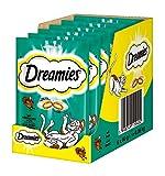 Dreamies Klassiker Katzensnacks mit Pute – Traumhaft knusprige Taschen mit zarter Füllung – 6 x 60g