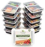 |10 pack| 2 fach Meal Prep Container. Frischhaltedosen Bento-Box Set mit Deckel. Spülmaschine, Mikrowelle, Gefrierschrank safe. BPA-frei Frishchalteboxen aus Kunststoff mit Trennwände [0.8L]