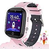 Smartwatch Kinder - Zwei-Wege-Anruf Smartwatch-Telefon mit Puzzlespiel Musikalarmkamera SOS Anti-Lost Touchscreen für Mädchen und Jungen Geschenk (Rosa)