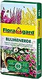 Floragard Blumenerde 50 Liter - Universalerde für Zimmer-, Balkon- und Kübelpflanzen - mit Ton und Langzeitdünger - auch für Gartenpflanzen