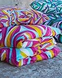 IKEA 'MYRLILJA Bettwäsche 140x200 cm und 80x80 cm Kissen in pink, türkis, gelb und weiß
