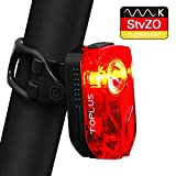 TOPLUS LED Fahrradbeleuchtung Fahrradrücklicht mit 30cm USB Kabel wasserdichte Staubdichte Fahrradlampe Zulassung von StVZO