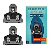 Alphatrail Shimano SPD-SL Rennrad Cleats Alfred I 0° Float I Mit Anti-Slip Aufstandspunkten I Inkl. Montageset I Kompatibel mit Klickpedalen u.a. Shimano Ultegra, Shimano Dura Ace, Shimano 105