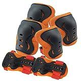 CLL Kniepolster Armband Ellbogenschützer - Schutzausrüstung Skateboard Fahrrad Rollschuhlaufen Erwachsene und Kinder Outdoor-Sport Sicherheitsausrüstung, S (4~14 Jahre alt)