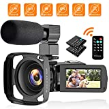 CamVeo 2.7K Videokamera Camcorder, Vlogging Kamera mit 16X leistungsstarken Zoom und 36 Mega Pixel IR Night Vision Digital, Kamera-Recorder mit 3,0 Zoll LCD Touchscreen Camcorder Full hd mit Mikrofon
