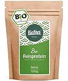 Reisprotein Bio 80% Protein 1kg - vegane Proteinquelle - ohne Zusätze - Frei von Gluten, Soja und Lactose - Top Bio Qualität - Abgefüllt und kontrolliert in Deutschland (DE-ÖKO-005)