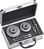 Werkzeyt Bohrkronen-Set 6-teilig - Ø 68 + 82 mm - 50 mm Schnitttiefe - SDS-Plus- & Sechskant-Adapter - 2 Zentrierbohrer / Lochbohrer für Mauerwerk & Kalksandstein / Hohlbohrkronen / 8910160