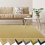 casa pura Sisal Teppich aus Naturfasern | mit Bordüre aus Baumwolle | pflegeleicht | viele Größen und Farben (Natur/Bordüre Natur, 70x130 cm)