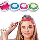 Gychee Haarfärbepuder ohne Stimulation Einfach zu reinigen Einweg-Haarfärbepuder, temporäres Haarkreideset (120g)