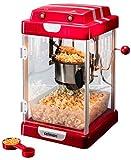 celexon CinePop CP1000 Popcorn-Maschine - 24,5x28x43cm - Rot-Retro/Kino-Design- Edelstahlkessel - Popcorn-Maker mit integriertem Rührwerk