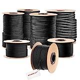 Seilwerk STANKE Polypropylen Seil geflochten PP Seil Polypropylenseil SCHWARZ Festmacher Flechtleine Tauwerk Tau Reepschnur, 2mm, 200m